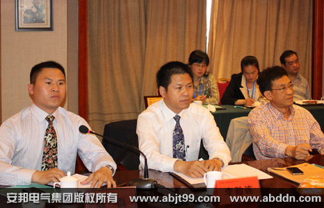 天长市政府领导、安邦电气集团董事长李贻连、副总经理陈磊