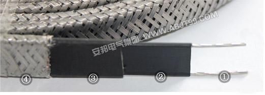 防爆防腐伴热电缆结构图
